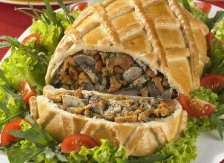 Кулебяка с грибами рецепт пошаговый рецепт